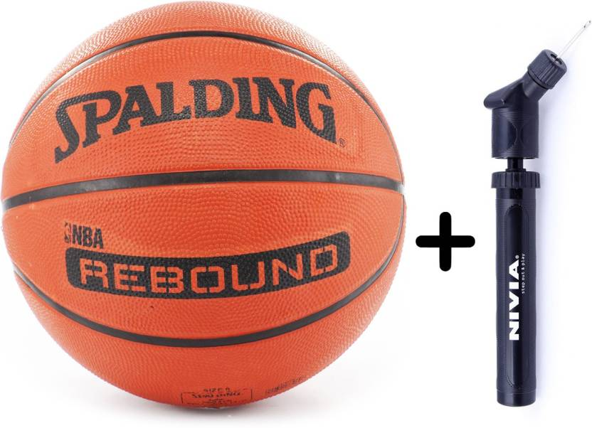 SPALDING Rebound (Size 5) + Ball Pump Combo Basketball - Size  5 (Pack of  2 3ab9efd396