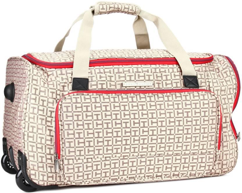 12ea6a809 Tommy Hilfiger 24 inch/61 cm FLORIDA Travel Duffel Bag BEGIE - Price ...