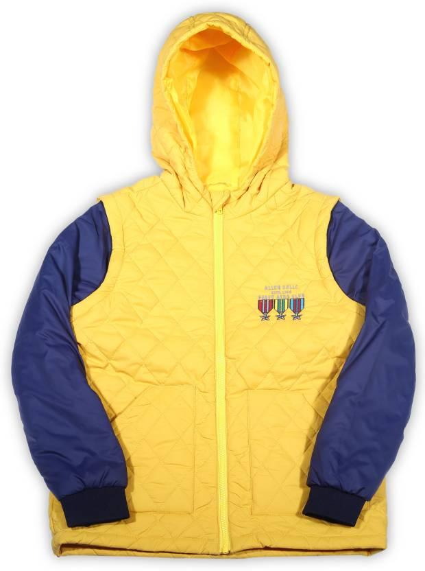 d3bac6988 Allen Solly Junior Full Sleeve Solid Boy s Jacket - Buy Brown Allen ...