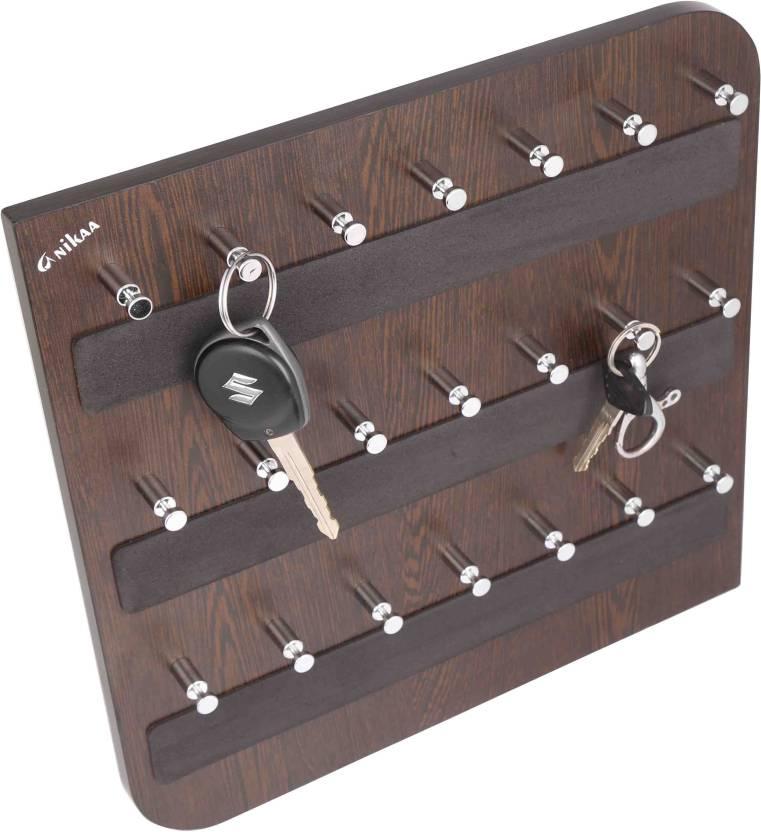 Anikaa Anikaa Alyssa 21 hook Key holder  Key Holder Key Hold  wood key  holder  wall-mounted key holder  key holder for the home  key storage holder   wooden ... d1d4e5140