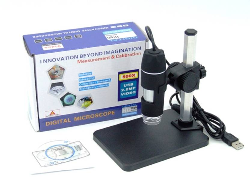 VTech 1 to 500x continuous zoom USB Digital Microscope + stand for