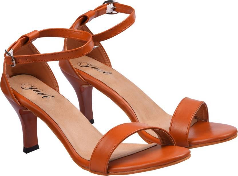f0113056b3ce Jade Women Tan Heels - Buy Jade Women Tan Heels Online at Best Price - Shop  Online for Footwears in India