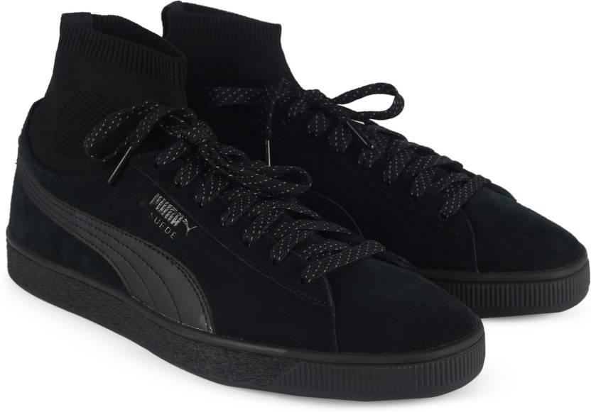 95383bef Puma Suede Classic Sock Sneakers For Men - Buy Puma Black-Puma Black ...