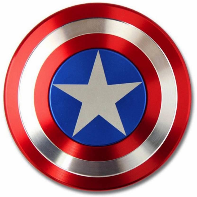 fd55036fa2c Padraig New Captain America Metel Shield Fidget Spinner (Assorted Color)  Fast Spinner In Nice Look (Multicolor)