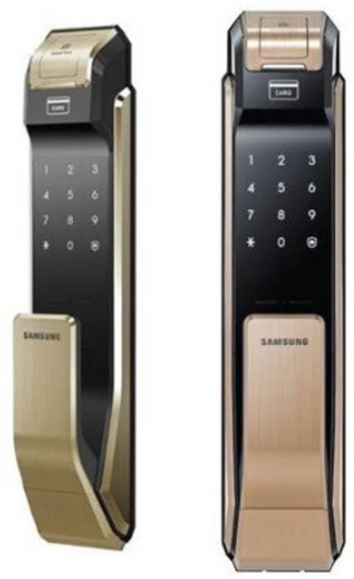 Samsung Digital Door Lock SHS- P718 Gold Fingerprint Push