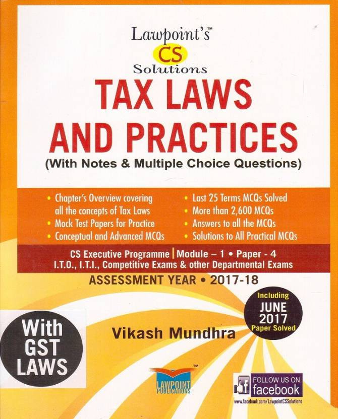 Lawpoint's Tax Laws & Practice with GST Laws for CS