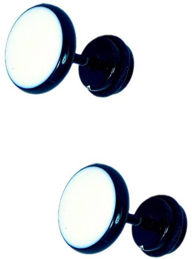 632f450f9 Flipkart.com - Buy One Point Collections Men Earrings Salman Khan Style  Dumble White Black Stud Earring For Men Stud,Bali Earring Order Now !