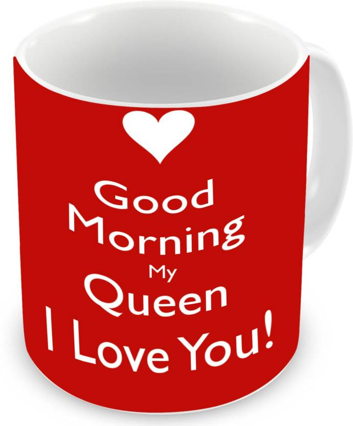 gemshop i love my queen i love you printed ceramic coffee tea cup ceramic mug