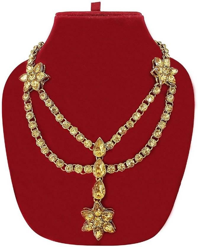 Baal Classy Traditional Wedding Kamarband Waist Chain / Jewellery Set / Matha Patti For Women &