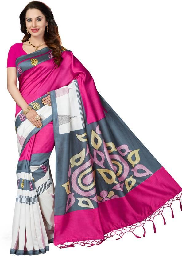 e04672d29c9 Buy Ishin Printed Bhagalpuri Art Silk Multicolor Sarees Online ...