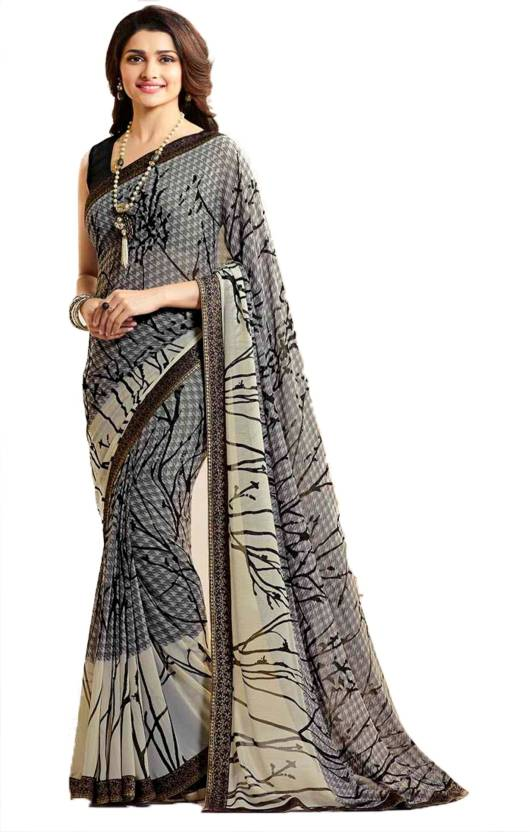 5f39ff2316 Buy Bombey Velvat Fab Printed Daily Wear Georgette Multicolor Sarees ...