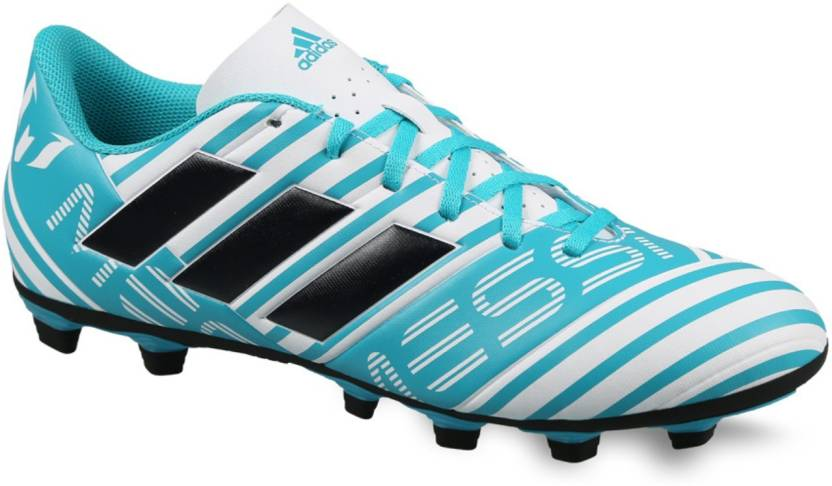 super popular 0f529 78ec6 ADIDAS Nemeziz Messi 17.4 FXG Football Shoes For Men (White, Blue)