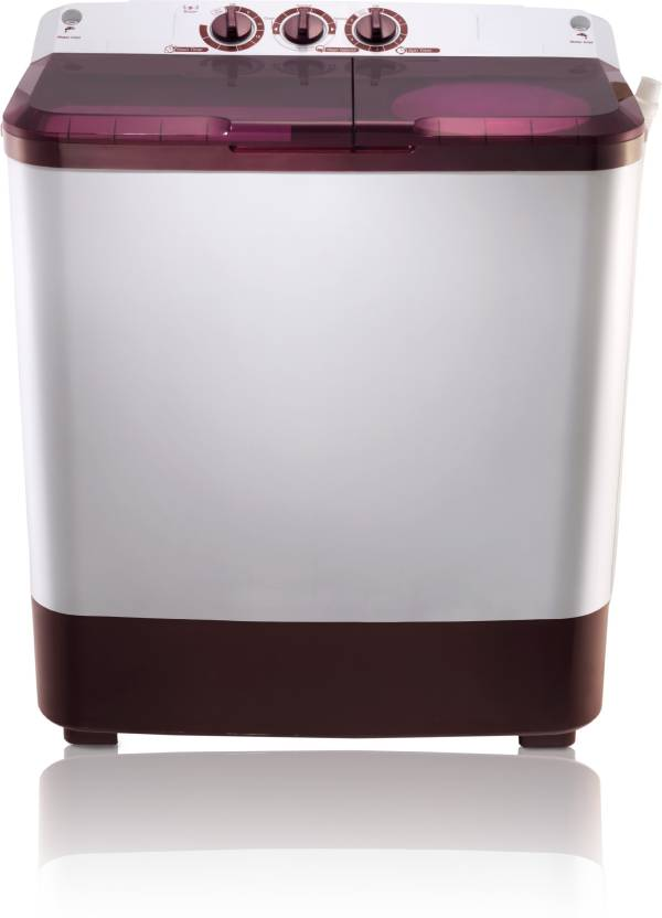 MarQ by Flipkart 6.5 kg Semi Automatic Top Load Washing Machine Maroon, White  (MQSA65)-30% OFF