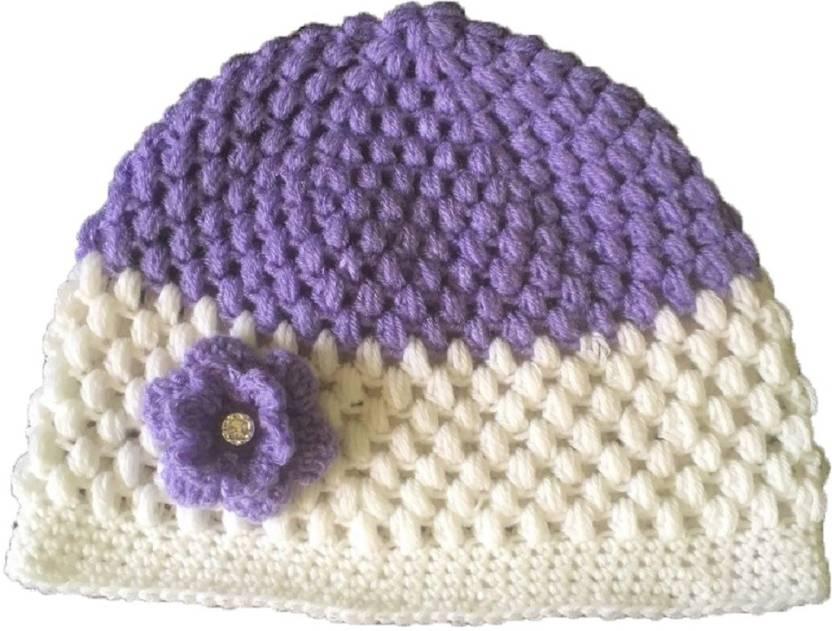 PeachCherry Self Design Crochet Cap - Buy PeachCherry Self Design Crochet  Cap Online at Best Prices in India  8644e129f