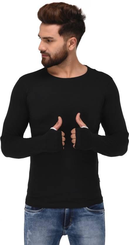 c17c3277dd0 Jack Royal Solid Men Round Neck Black T-Shirt - Buy Jack Royal Solid Men  Round Neck Black T-Shirt Online at Best Prices in India