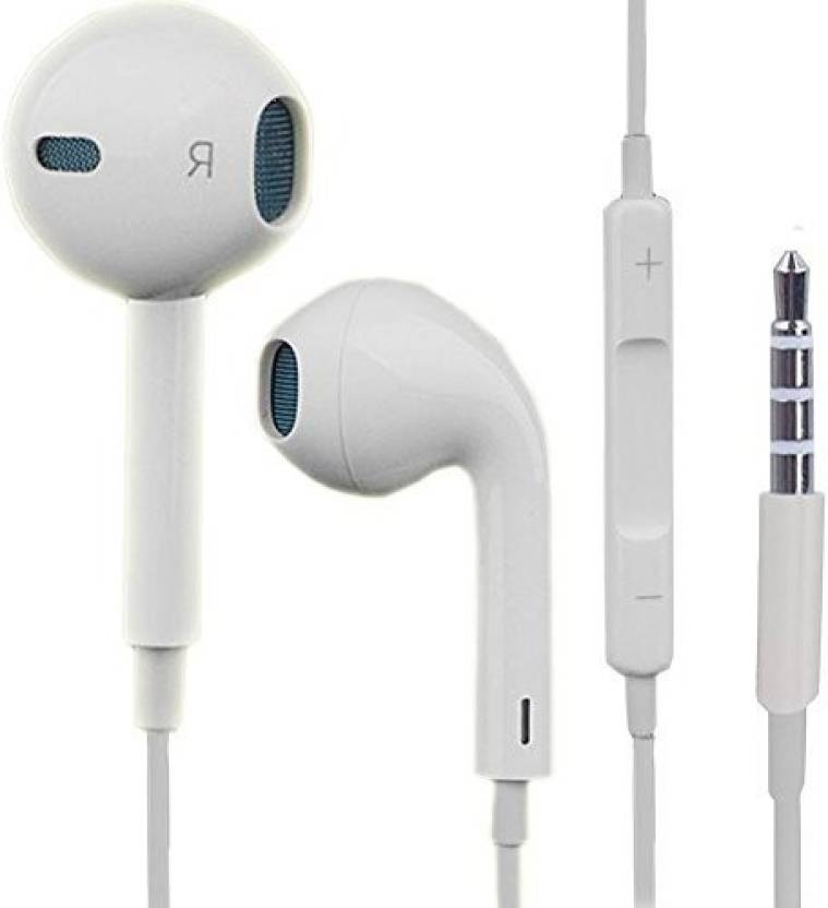 b5e252a6a73 Buy Genuine EarPods with 3.5mm Headphone Plug (MSNHSFO2SZM/A) Wired Headset  with Mic (White, In the Ear)