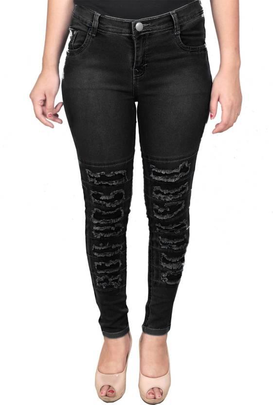 Livener Slim Women Black Jeans