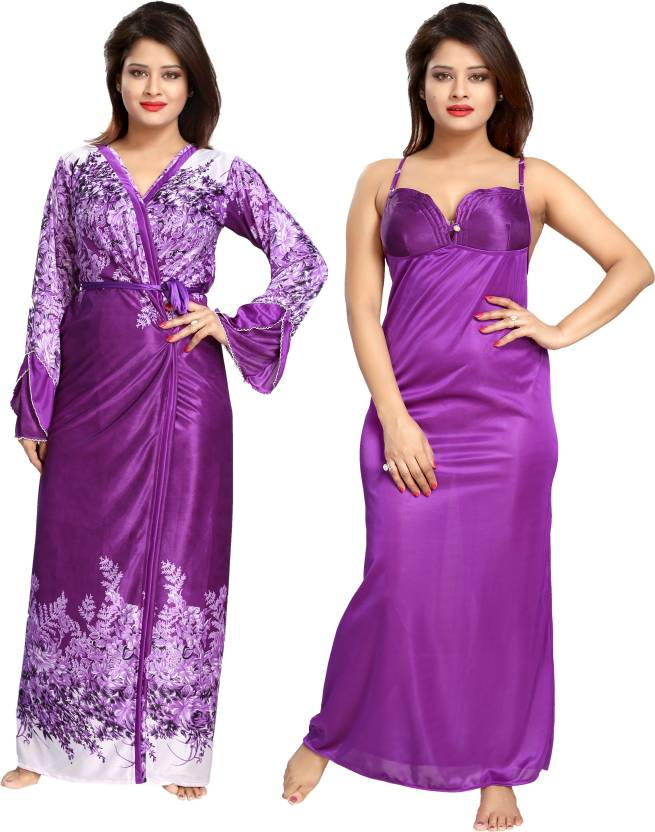 984a5f3b99 Shopping Station Women Nighty with Robe - Buy ssn 5394 Shopping ...