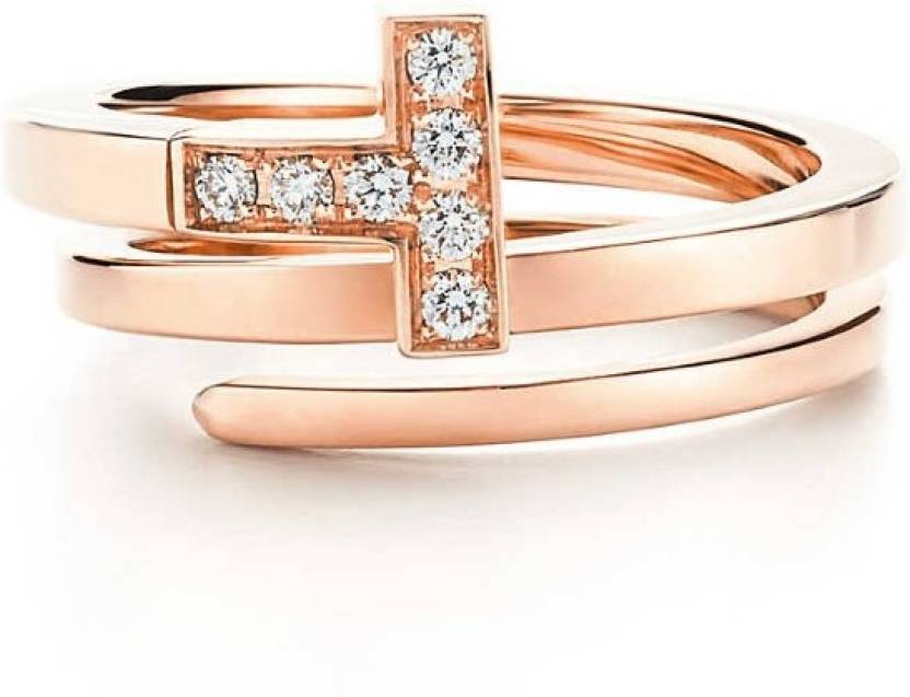 Karat Square Classy 18kt Diamond Rose Gold ring Price in India