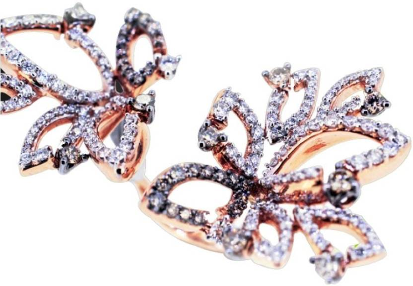 Karat Square Fashionable 18kt Diamond Rose Gold ring Price in