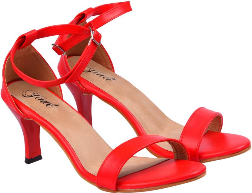Jade Women Red Heels - Buy Jade Women Red Heels Online at Best ...