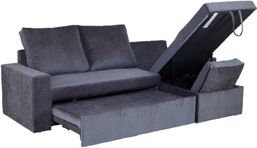 Sofame Rio Double Solid Wood Metal Sofa Sectional Bed