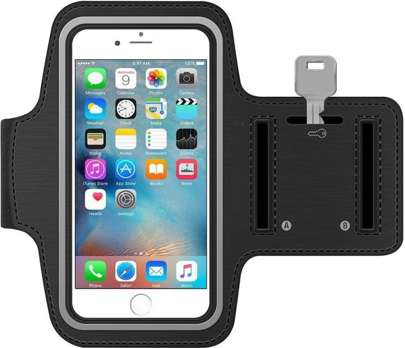 Brille Arm Band Case for Jogging,Running,Gym. (Black, Cases with Holder, Rubber)