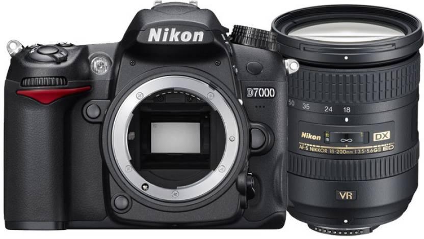Nikon DX D7200 DSLR Camera AF S DX Nikkor 18 200mm f/3.5 5.6G ED VR II Black