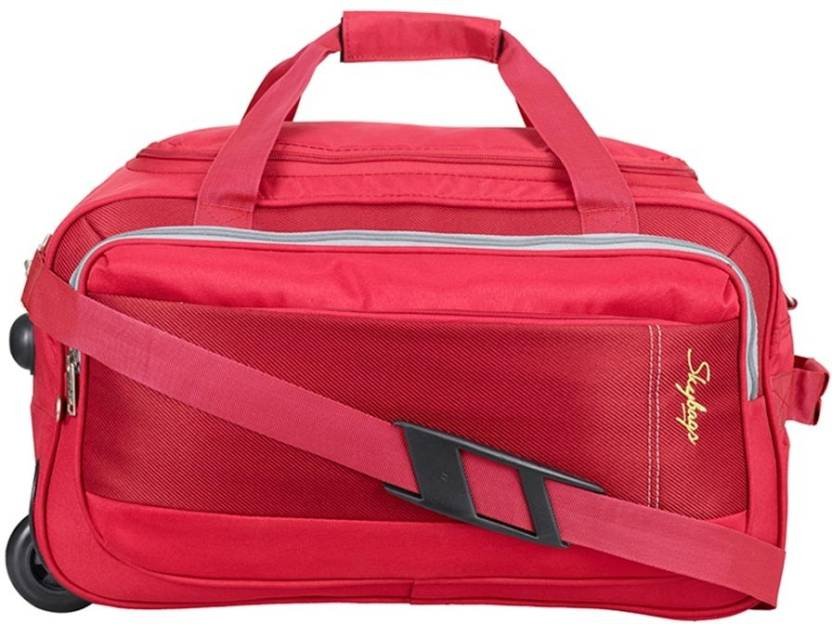 Skybags 21 inch 53 cm Cardiff (E) Duffel Strolley Bag Red - Price in ... 1c66c18d22d2c