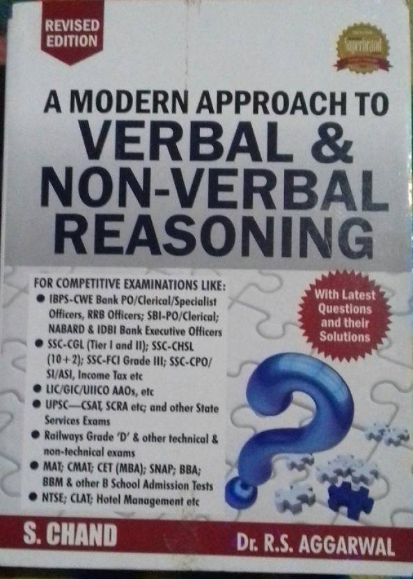 Modern Approach To Verbal And Non Verbal Reasoning English
