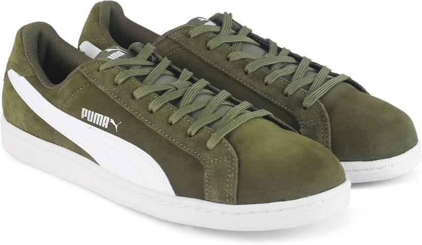 ff535ffceb8 Puma Smash SD Sneakers For Men - Buy Olive Night-Puma White Color ...