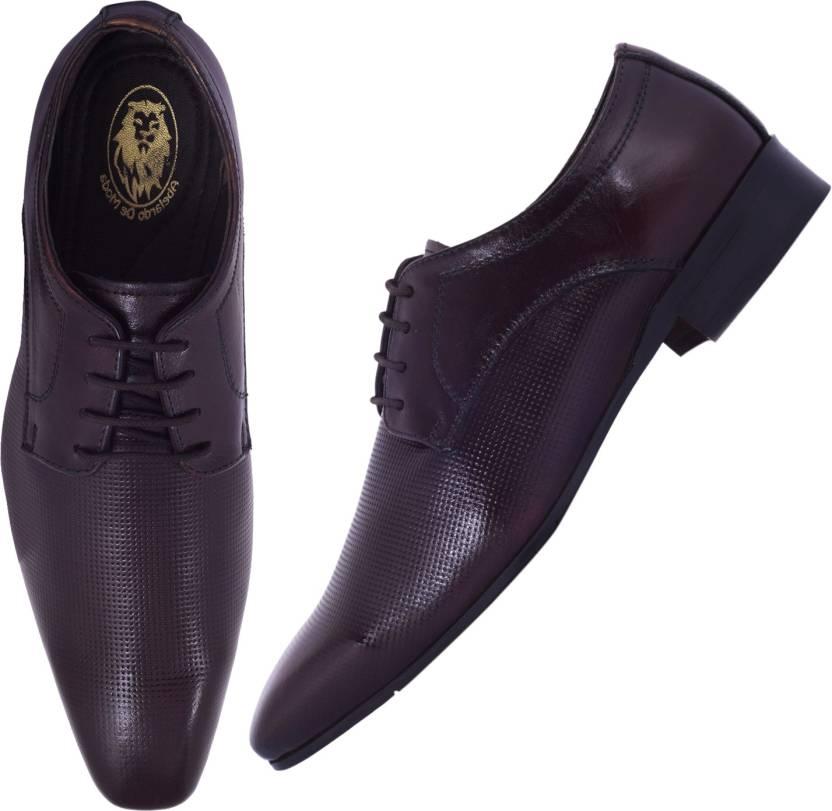 beed46b73 Abelardo De Moda Abelardo De Moda Burgundy Formal Shoe Lace Up For Men  (Burgundy)