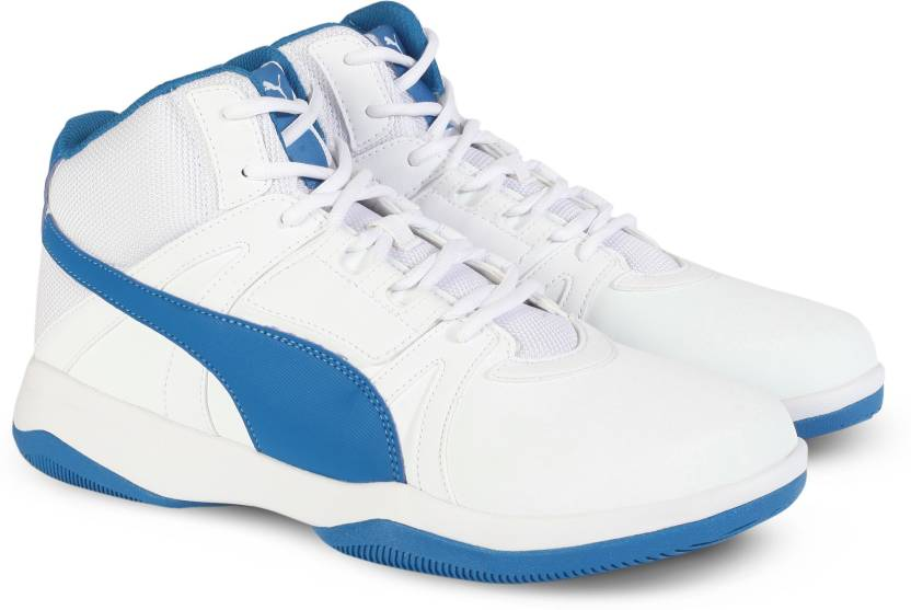 51a3c9049fa01b Puma Rebound Street Evo SL Sneakers For Men - Buy White-Mykonos Blue ...