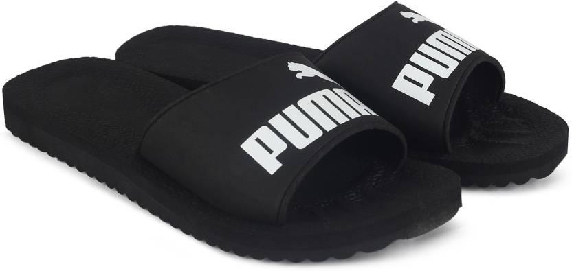 5a1174e459a Puma Purecat Slides - Buy black-white Color Puma Purecat Slides Online at Best  Price - Shop Online for Footwears in India