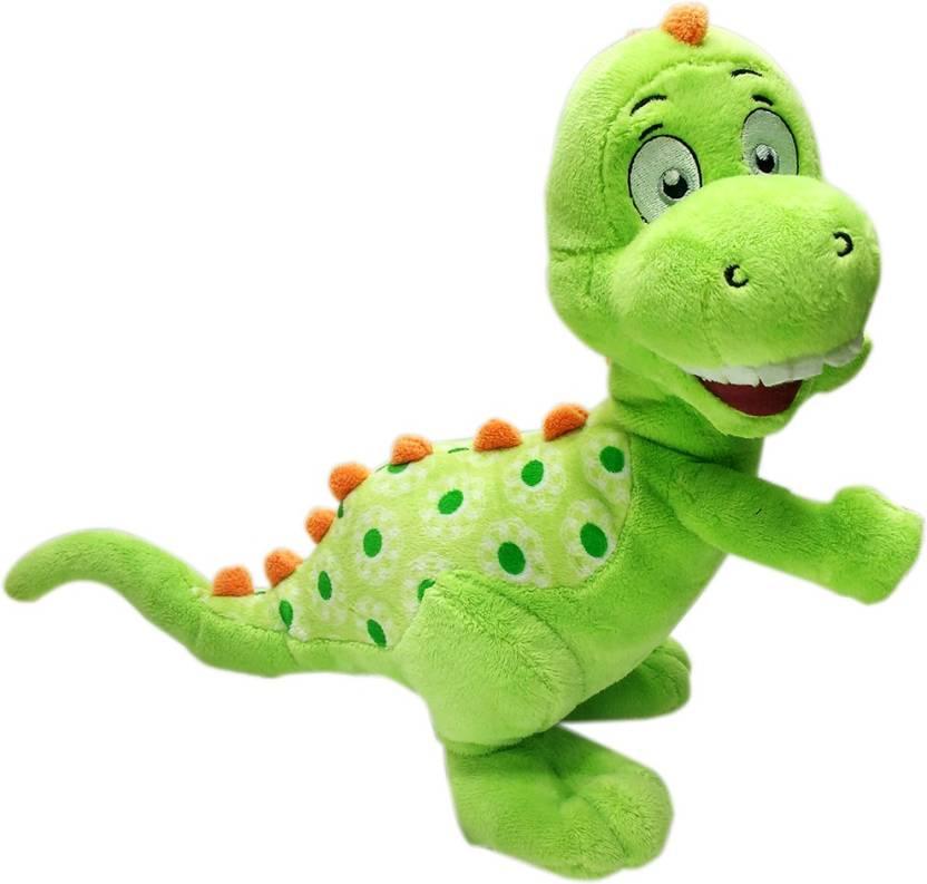 369cbda5af8d My Baby Excels Baby Dinosaur Plush Green   Red Colour 25 cm - 25 cm  (Multicolor)