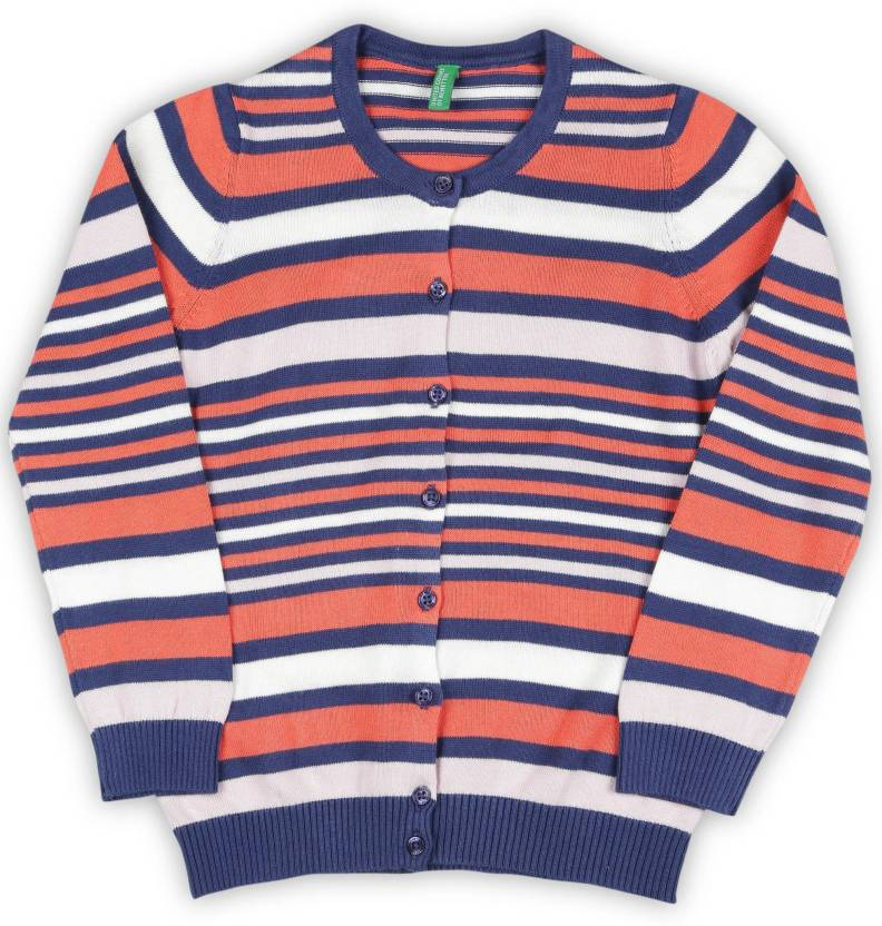 65419999d799 United Colors of Benetton Striped Round Neck Casual Baby Girls ...