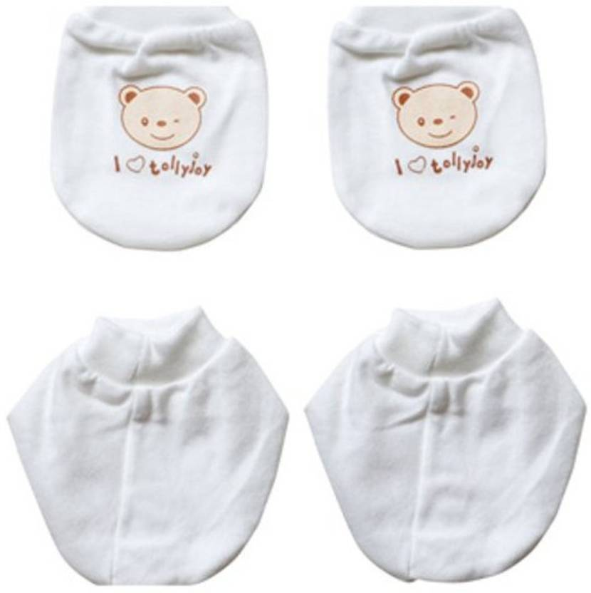 488315b0b2a8 Tollyjoy Mitten and Bootee Set (Bear) (White) -