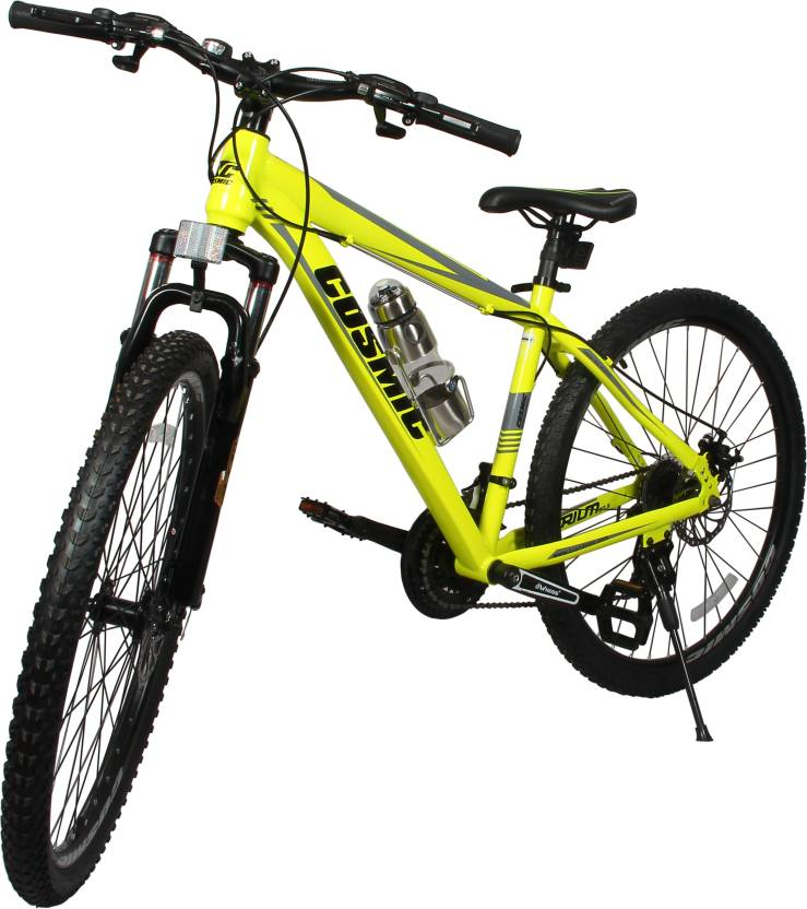 bed3cee2015 COSMIC TRIUM 27.5 INCH MTB BICYCLE 21 SPEED YELLOW-PREMIUM EDITION 27.5 T  Mountain/Hardtail Cycle (21 Gear, Yellow)
