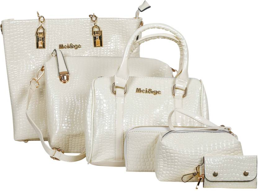 3409802153da Buy Mei Ge Shoulder Bag Off-White Online   Best Price in India ...
