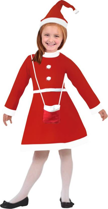 b5a191f7a51 Kavya Creation Christmas Santa Claus Dress For Girls (Age 1 - 2.5 Year)  Xmass Kids Costume Wear