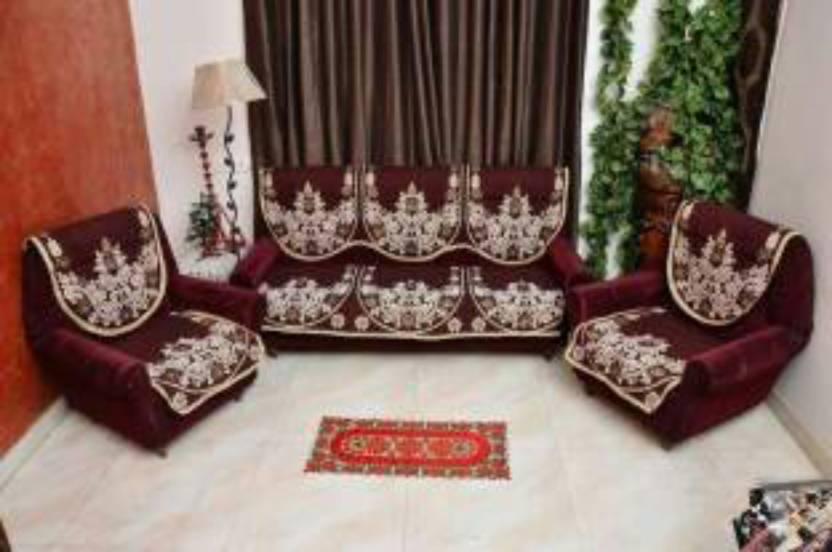 Shree Khatu Prints Velvet Sofa Cover