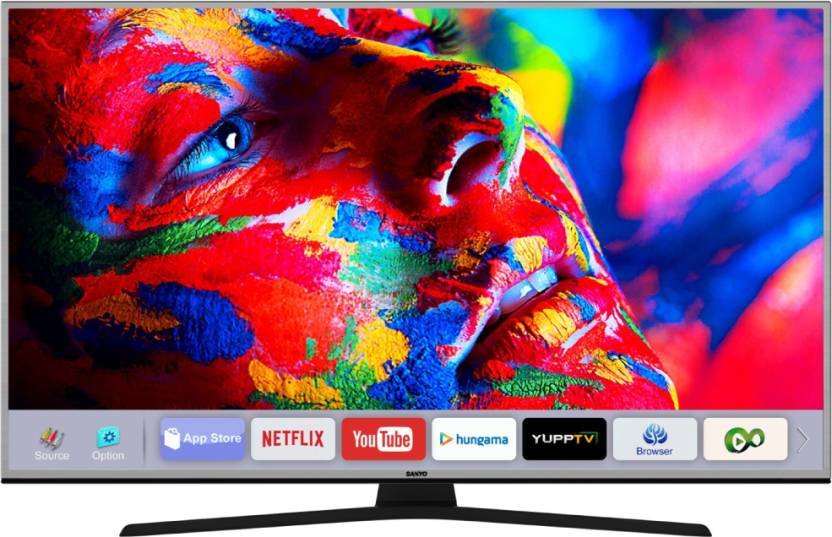 Best Smart TV's Under 50000Rs - Sanyo 123cm (49 inch) Ultra HD (4K) LED Smart TV  (XT-49S8200U)