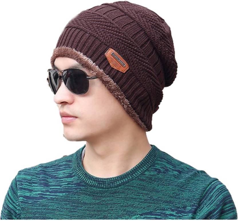 Friendskart Autumn Winter warm beanies for men hats fahion Casual Cap Thick  knitted hat bonnet plus velvet caps for men beanie Cap - Buy Friendskart  Autumn ... e62d474feb3