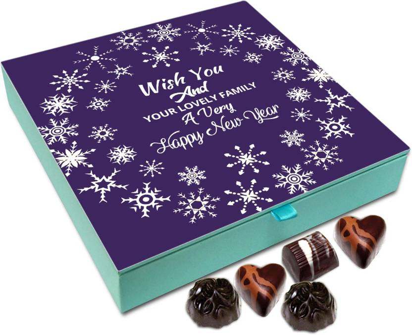 chocholik new year chocolate box wish you and your family a very happy new year
