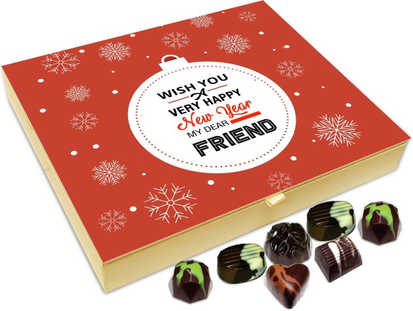 chocholik new year chocolate box wish you a very happy new year my dear friend