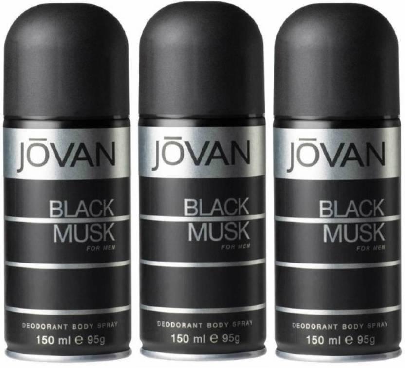 37ecf293c Jovan Three Black Musk Combo Set Body Spray - For Men - Price in ...