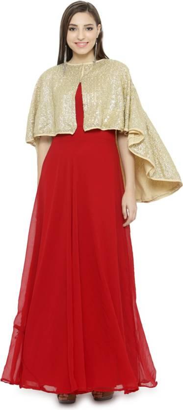 a402d38ff3 Just Wow Women s Maxi Maroon Dress - Buy Just Wow Women s Maxi ...