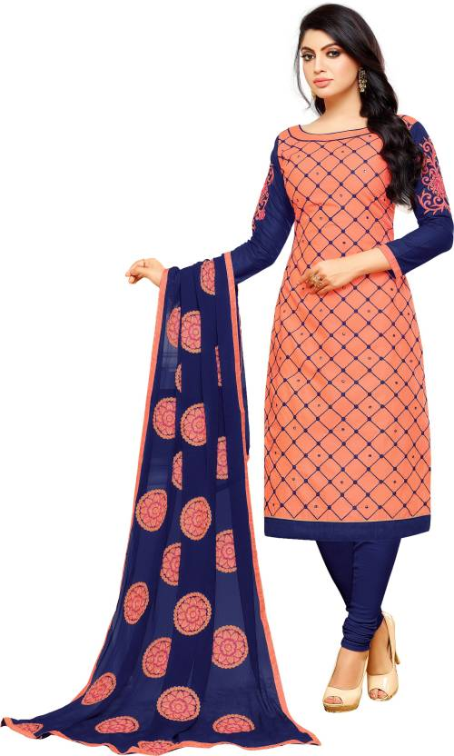 8433b7aa6f Pisara Cotton Embroidered Salwar Suit Dupatta Material (Un-stitched)