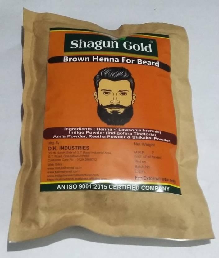 Shagun Gold Brown Henna Beard Dye For Men Price In India Buy