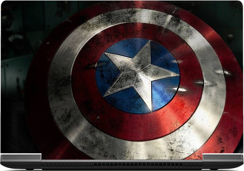 Gallery 83 Shield Captain America Laptop Skin Sticker 15 6 Inch